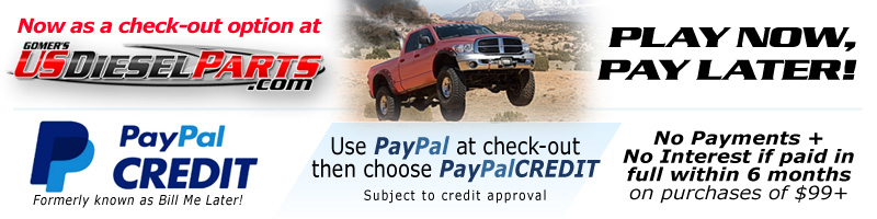 USDieselParts.com now uses BillMeLater - a PayPal service