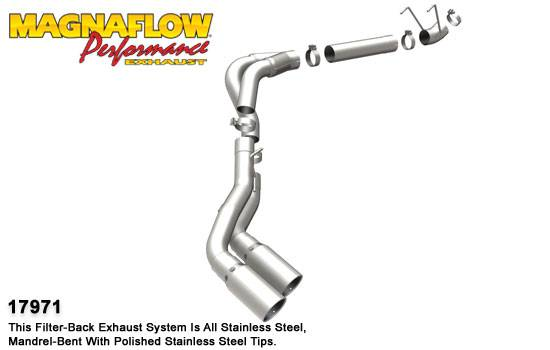 Magnaflow 4 Pro Series Stainless Dpf Back Dual Exhaust