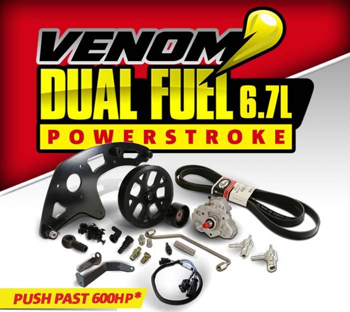 1050470 - Venom Dual Fuel Kit c/w CP3 Pump - Ford 2011-2016 6 7L
