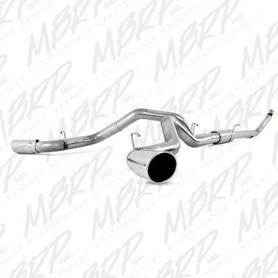 """MBRP Exhaust - MBRP - 4"""" Stainless Turbo Back Cool Duals Exhaust (4WD only) - 94-02 Dodge 5.9L"""