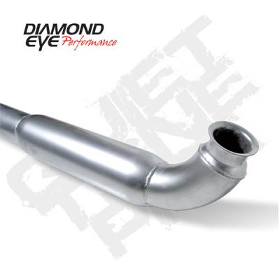"Diamond Eye - 4"" Quiet Tone Front Pipe - 01-07 Duramax 6.6L"