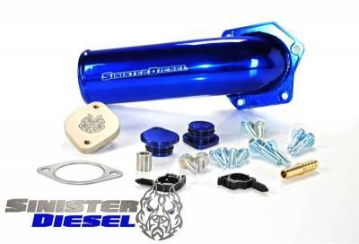 Sinister - EGR Valve/Cooler Delete Kit with High Flow Intake Elbow - 08-10 Ford 6.4L