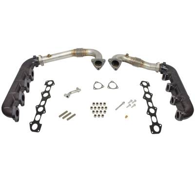 BD Diesel Performance - BD UpPipe and Manifold Kit - 08-10 Ford 6.4L
