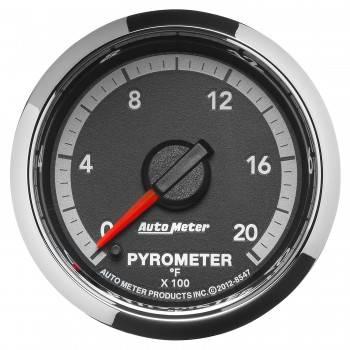 """Auto Meter Gauges - 2-1/16"""" Pyrometer - 0-2000 - FSE - Dodge 4th Gen"""