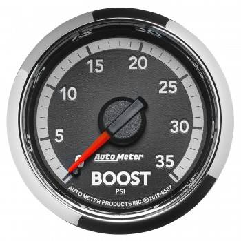 "Auto Meter Gauges - 2-1/16"" Boost Pressure - 0-35 PSI - Mech - Dodge 4th Gen"