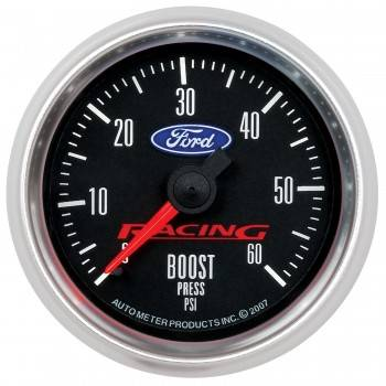 "Auto Meter Gauges - 2-1/16"" Boost Pressure - 0-60 PSI - Mech - FORD RACING"