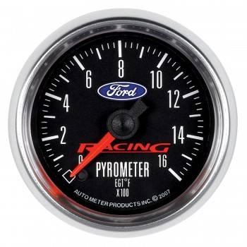 "Auto Meter Gauges - 2-1/16"" Pyrometer - 0-1600 Deg - FSE - FORD RACING"