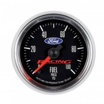 "Auto Meter Gauges - 2-1/16"" Fuel Pressure - 0-100 PSI - FSE - FORD RACING"