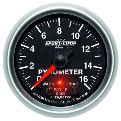 """Auto Meter Gauges - 2-1/16"""" PYROMETER KIT - 0-1600`F - FSE - PEAK/WARN"""
