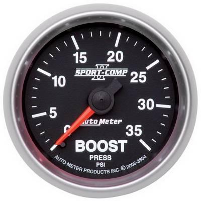 "Auto Meter Gauges - 2-1/16"" BOOST PRESSURE 0-35 PSI - MECH"