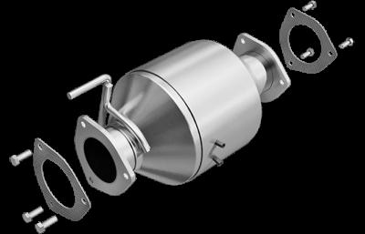 "MagnaFlow Exhaust - Magnaflow 4"" Stainless Steel Direct Fit Rear Catalytic Converter - 07*-12 Dodge 6.7L"