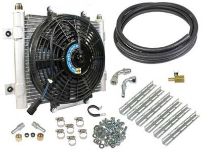 "BD Diesel Performance - BD - Xtruded Transmission Oil Cooler with Fan - 1/2"" Tube - Dodge & Ford"
