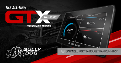 Bully Dog - Bully Dog40465B- GTX Watchdog optimized for 2013+ Dodge Cummins Diesel Trucks