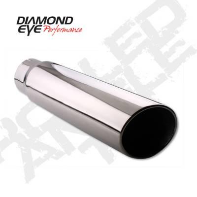 "Diamond Eye - 4"" x 5"" x 15"" Rolled Angle Exhaust Tip"