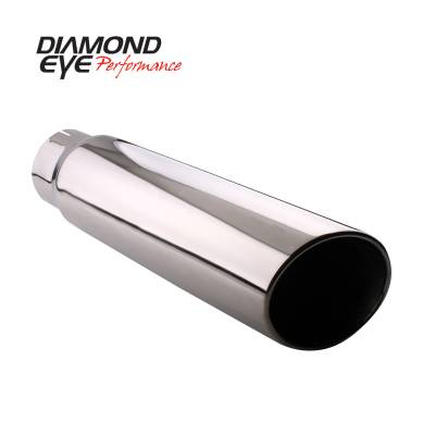 "Diamond Eye - 5"" x 6"" x 18"" Rolled Angle Exhaust Tip"