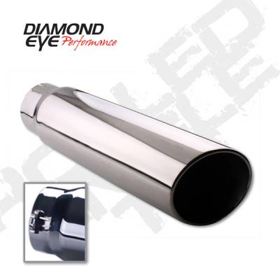 "Diamond Eye - 5"" x 5"" x 12"" Bolt On Rolled Angle Exhaust Tip"