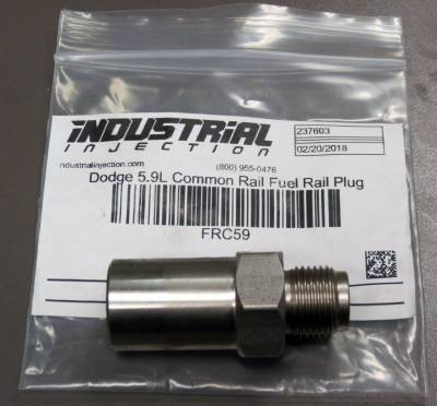 Industrial Injection - Dodge 5.9L Common Rail Fuel Rail Plug