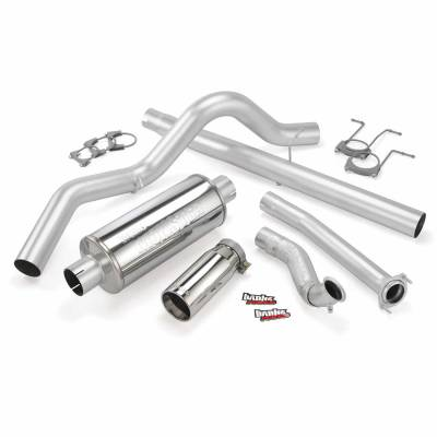 Banks Engineering - Banks - Monster Exhaust System Single Exit with Chrome Tip   94-97 Ford 7.3L CCLB
