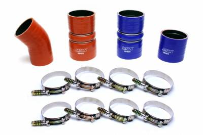 HPS Performance Products - HPS - High Temp Reinforced Silicone Intercooler Hose Boots Kit - 2005-2007 Ford 6.0L