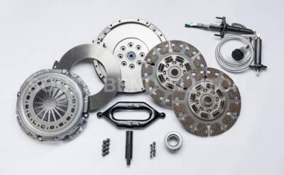 South Bend Clutch - South Bend 550HP Dual Disc Clutch Kit Full Organic (With Flywheel & hydraulics) - 2005.5-2018 Dodge 5.9L 6.7L Cummins with G56