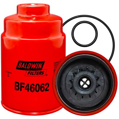 Baldwin Filters - BF46062 - Spin-on Fuel-Water Separator with Open Port - 2001-2016 GM 6.6L Duramax