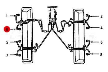 Dipaco - #3 Fuel Injection Line 6.2L 6.5L Mechanical