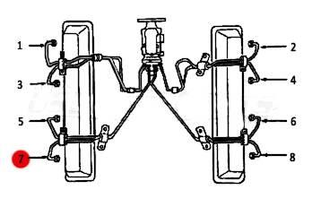 Dipaco - #7 Fuel Injection Line 6.2L 6.5L Mechanical