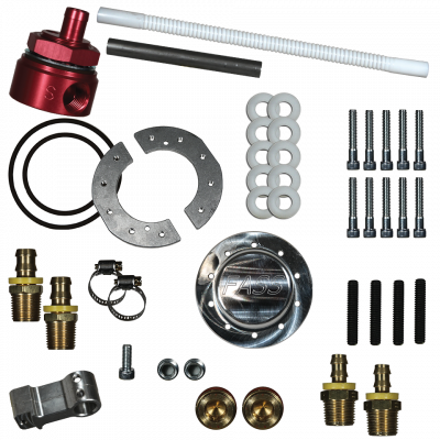 FASS Fuel Air Separation Systems - FASS Diesel Fuel Sump With Bulkhead and Suction Tube Kit
