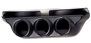 Auto Meter Gauges - Triple Overhead Console Pod (Black) - 00-07 GM