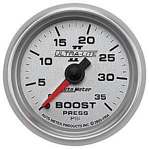 Auto Meter Gauges - Auto Meter Ultra-Lite II Boost 0-35psi