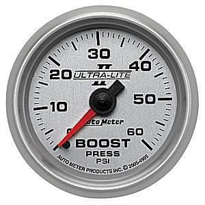 Auto Meter Gauges - Auto Meter Ultra-Lite II Boost 0-60psi