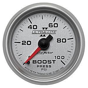 Auto Meter Gauges - Auto Meter Ultra-Lite II Boost 0-100psi