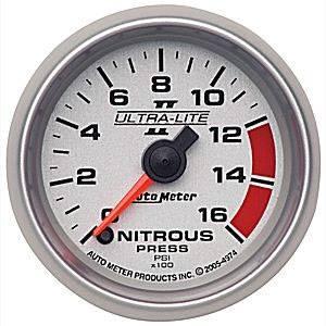 Auto Meter Gauges - Auto Meter Ultra-Lite II Nitrous 0-1600psi