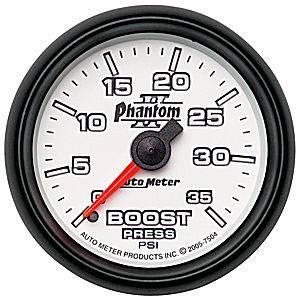 Auto Meter Gauges - Auto Meter Phantom II Boost Gauge 35 psi