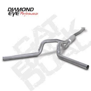 "Diamond Eye - 4"" Aluminized Cat Back Dual Exhaust - 01-05 LB7 LLY Duramax"