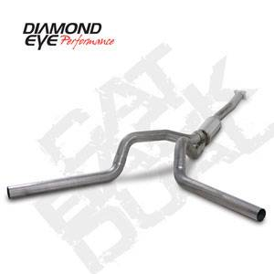 "Diamond Eye - 4"" Stainless Cat Back Dual Exhaust - 01-05 LB7 LLY Duramax"