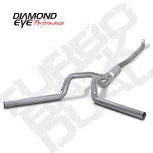 "Diamond Eye - 4"" Aluminized Down Pipe Back Dual Exhaust - 01-07 LB7 LLY LBZ Duramax"