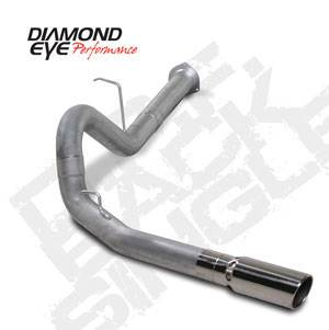 "Diamond Eye - 4"" Aluminized DPF Back Exhaust- 07-10 LMM Duramax"