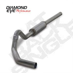 "Diamond Eye - 4"" Cat Back Stainless Single Exhaust - 04.5-07 Dodge 5.9L"