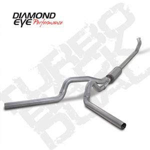 "Diamond Eye - 4"" Aluminized Turbo Back (Off Road) Dual Exhaust - 04.5-07 Dodge 5.9L"