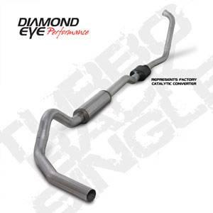 "Diamond Eye - 4"" Aluminized CAT Exhaust Ford 6.0L"