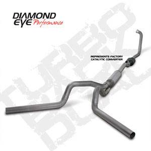 """Diamond Eye - 4"""" Dual Stainless CAT Exhaust Ford 6.0L"""