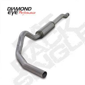 "Diamond Eye - 4"" CAT Back Aluminized Exhaust Ford 6.0L"