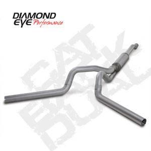 "Diamond Eye - 4"" CAT Back Dual Aluminized Exhaust Ford 6.0L"