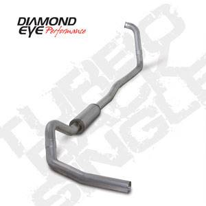 "Diamond Eye - 4"" Aluminized Exhaust Ford 6.0L"