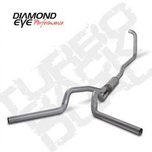 "Diamond Eye - 4"" Dual Aluminized Exhaust Ford 6.0L"