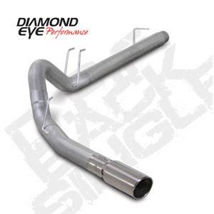 "Diamond Eye - 4"" Aluminized DPF Back Exhaust Ford 6.4L"