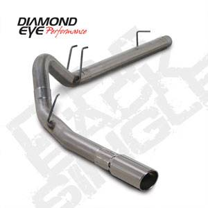 "Diamond Eye - 4"" Stainless DPF Back Exhaust Ford 6.4L"