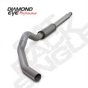 "Diamond Eye - 5"" CAT Back Aluminized Exhaust - 03-07 Ford 6.0L"