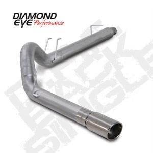 "Diamond Eye - 5"" Aluminized DPF Back Exhaust Ford 6.4L"